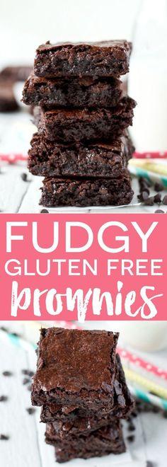 Super Fudgy Gluten Free Brownies (a Ghirardelli copycat recipe) from @whattheforkblog | whattheforkfoodblog.com