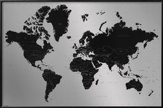 "World Map - Contemporary Poster at AllPosters.com 36""x24"" $39.99"