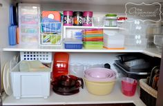 How to organise a Tupperware cupboard