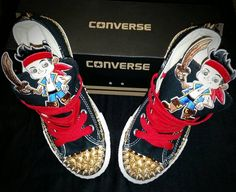 f7cfd9b7dcc1 Boys Custom Converse Sneakers- Jake and the Neverland Pirates Converse- Kids  Converse- Boys Custom Sneakers- Batman- Superman Mickey Mouse