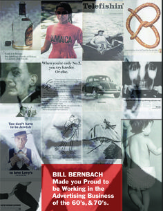 Famous Advertising Leaders. Bill Bernbach No. 19