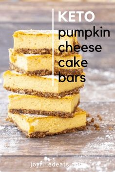 From the crispy homemade pecan crust to the creamy pumpkin cheesecake filling, you will experience all the flavors of autumn. Everything about these Keto Pumpkin Cheesecake Bars says fall! This easy 7 ingredient pumpkin recipe is low carb, sugar-free, gluten-free, grain-free, and Trim Healthy Mama friendly. There are a million reasons why these low carb pumpkin cheesecake bars are one of my go-to keto desserts for fall. Number one is they are delicious! Number two is they are SO easy.