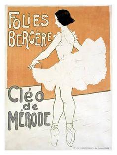 Sanctuaries, Dreams and Shadows: Cleo de Merode, Beauty of le Belle Epoque Vintage French Posters, French Vintage, French Art, Belle Epoque, Retro Poster, Poster S, Poster Wall, Poster Prints, Vintage Advertisements