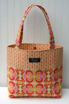 Market Tote Bag Garden Maze by ElisaLou on Etsy, $60.00