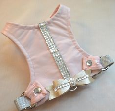 Leather Dog Harness  Tiffany in Pink by FooFooFido on Etsy