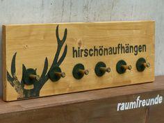 Geweihe & Trophäen - Kleine Garderobe MUNITION, Eiche hell - ein Designerstück von raumfreunde bei DaWanda