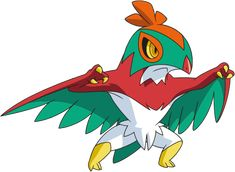 Hawlucha Someone try to draw two of these standing next to the new Tapu Koko as it's Guardians