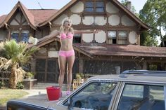 Pin for Later: The Best Bikini Moments in Movies Anna Faris, The House Bunny Faris's Playboy Bunny Shelley knows there's no better fundraiser than a bikini car wash! House Bunny Movie, The House Bunny, Bikini Car Wash, Quality Photo Prints, Anna Faris, Gorgeous Blonde, Girls Rules, Bikinis, Swimwear