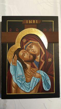 Nie płacz po mnie Matko, owoc wiekopostnych wieczornych spotkań z Tajemnicą... Byzantine Icons, Byzantine Art, Blessed Mother Mary, Blessed Virgin Mary, Religious Icons, Religious Art, Orthodox Icons, Jesus Christ, Watercolor Art
