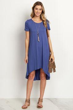 Blue-Basic-Hi-Low-Dress