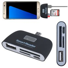 Multi Memory Card Micro USB 3 in1 Memory Card Reader Adapter USB/TF/SD for Samsung Galaxy S7Edge MS Memory Stick Hot Worldwide