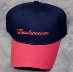 Budweiser Adjustable Velcro Back Baseball Hat Cap American Flag Embroidered NEW #Riverside #Adjustable