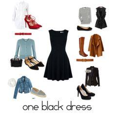 One black dress. Multiple ways to wear.