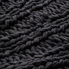 Chunky Knit Coal Rib Throw