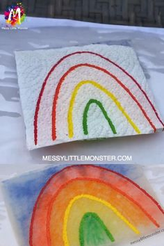 Paper Towel Art – Is it magic or science? Paper Towel Art – Is it magic or science? Rainbow Activities, Craft Activities For Kids, Preschool Crafts, Diy Crafts For Kids, Toddler Activities, Projects For Kids, Fun Crafts, Arts And Crafts, Kids Diy