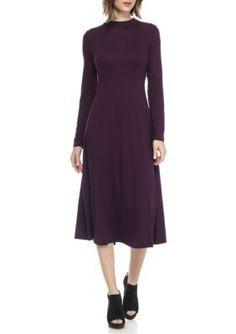 Eileen Fisher Rasinette Solid Mock Neck Dress