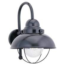 Sea Gull Lighting 8870-12 Black Sebring 1 Light Outdoor Lantern Wall Sconce - LightingDirect.com