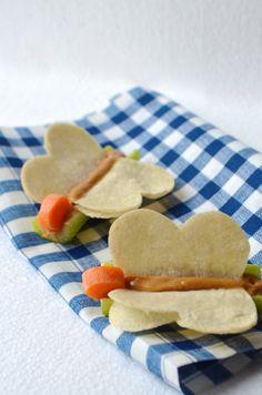Celery Peanut ButterFlys 5 Healthy Movie Snacks that will Make Kids Smile from AlwaysOrderDessert.com