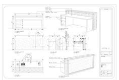 Image result for reception desk section detail drawing