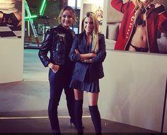 Sylvie Meis - black, skirt, boots