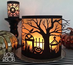 Add flickering, golden light to your holiday décor with this easy to make luminary. Look for all our Halloween and holiday designs in Cricut Design Space.