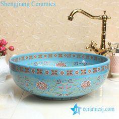 Fancy lord palace style ceramic cupboard bath wash basin - shengjiang  #ceramic  factory   porcelain art hand #basin wash #sink