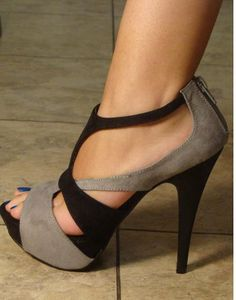 more photos 9efde 474a9 Grey Heels, Nice Heels, Cute Shoes Heels, Cool High Heels, Strappy Heels
