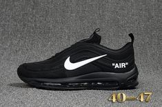 reputable site 6eb2b 93eee Cheap Off White X Nike Air Max 97.2 KPU Mens shoes  Black  White