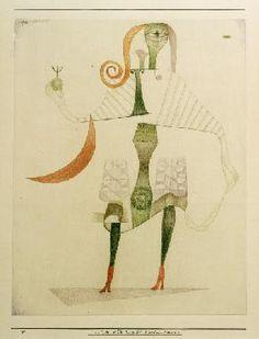 Paul Klee - Weibl. Kostuem-Maske, 1924, 150.