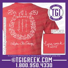 TGI Greek - Alpha Chi Omega - Lyre Week - Greek T-shirt #tgigreek #alphachiomega #alphachi