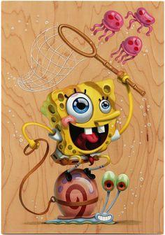 exposition bob l eponge 1 Exposition Bob léponge Sculpture pop culture photo peinture image galerie exposition bob léponge