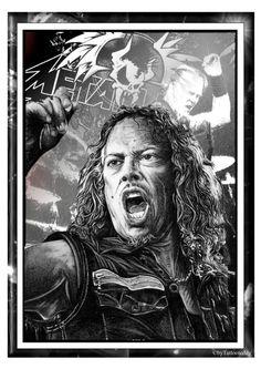Metallica Kirk Hammet von Tattooteddy auf Etsy