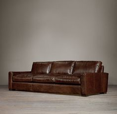 Oh to dream...Maxwell Leather Three Cushion Sofas, Restoration Hardware