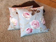 Kissenbezug 40x40 blau rosa Rosen Shabby Vintage pastell Kissenhülle ohne Kissen in Möbel & Wohnen, Dekoration, Dekokissen   eBay!