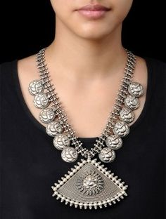 Buy Lord Ganesh Silver Necklace Online