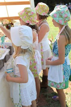 bonnets! {The Party Wagon - Blog - LITTLE HOUSE ON THE PRAIRIEPARTY}