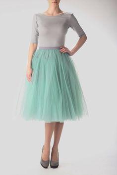 Falda de tul color esmeralda