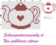 pinterest punto croce monocolore CUCINA - Cerca con Google