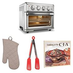 Cuisinart Air Fryer Toaster Oven + Oven Mitt, Flipper Tongs and Cookbook Baked Chicken Tenderloins, Air Frying, Specialty Appliances, Kitchen Tools, Kitchen Dining, Cool Kitchens, Color Cake, Toaster Ovens, Amp