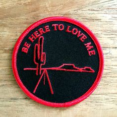 """Townes Van Zandt Be Here To Love Me 3"""" embroidered patch - $5.00"""