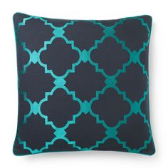 Decorative Home Textiles - Embroidered Tile Pillow Cover - 20X20 | C. Wonder  $48