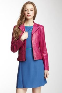 Zip Up Leather Jacket