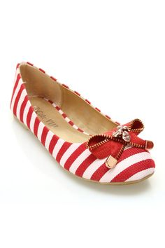 Machi Ava 1 Ballet Flats In Red - Beyond the Rack