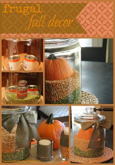 Frugal fall decorating tips - so simple!