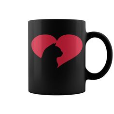 Cat Heart HOT MUG : coffee mug, papa mug, cool mugs, funny coffee mugs, coffee mug funny, mug gift, #mugs #ideas #gift #mugcoffee #coolmug
