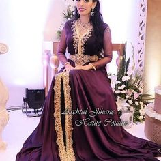 My beautiful bride Sara avec une création Jihane Archtal Haute Couture #caftanos#fashionstyle#fashion#purple#dress#caftan2016#gold#bride#instamaroc#marakesh#moroccandesigner#instadesigner#styliste