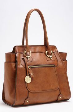 London Fog Knightsbridge Tote in Brown (cognac)