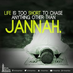 You cannot pray for an 'A' on a test and study for a 'B'. The same way you cannot pray for Jannah and live a life leading towards Jahannam.