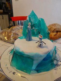 """Fée maison: Gâteau d'anniversaire """"Reine des Neiges"""" pour les 6 ans de Juliette"""