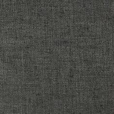 Blake - Linen Polyester Blend Burlap Upholstery Fabric by the Yard - Available in 30 Colors - Charcoal w/ Backing - Top Fabric - 23